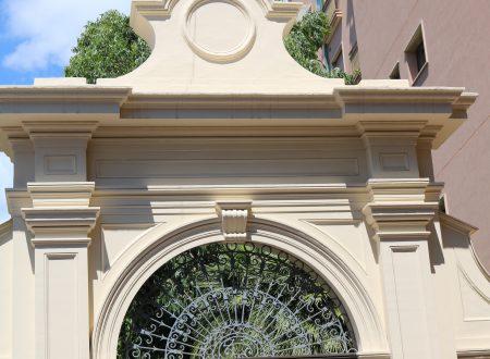 Bordighera (IM): Portale di Villa Rosa